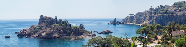 Panoramic view of beautiful island, taormina, sicily
