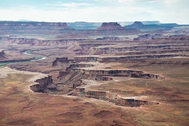A panoramic view in canyonlands national park in utah