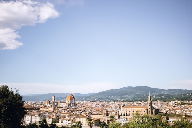 Panoramic view of the city of florence