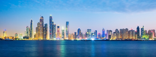 Panoramic view of dubai, uae.