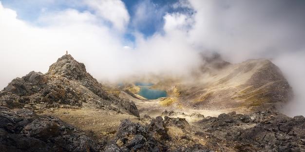 Панорамный вид из национального парка джулиус саммит пик нельсон лейк, новая зеландия