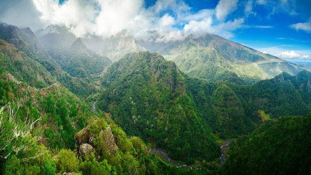 Panoramic view from levada balcoes