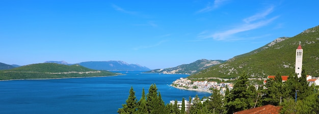 Panoramic view from neum town in bosnia and herzegovina, europe