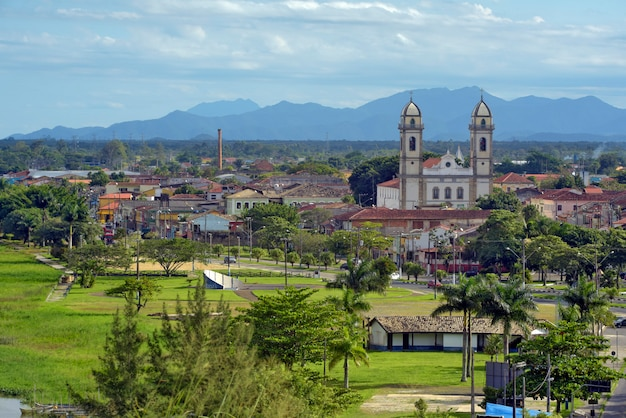Panoramic view of historic colonial city