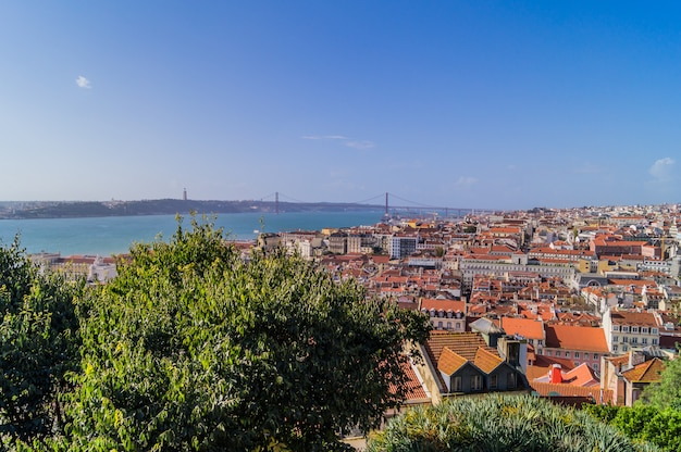 A panoramic view of lisbon