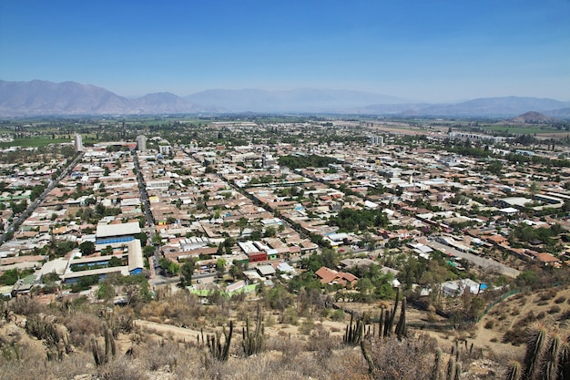Panoramic view on los andes city in chile