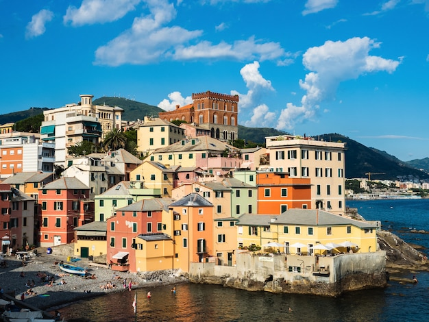 Panoramic view of the magnificent italian city of genoa