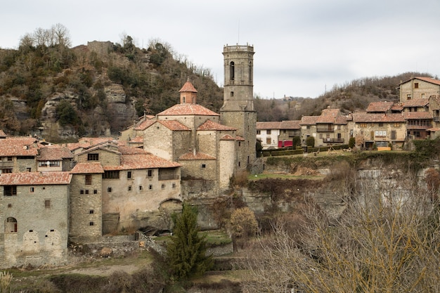 Panoramic view of medieval village of rupit