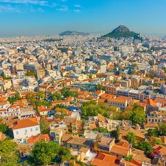 Панорамный вид на город афины, греция