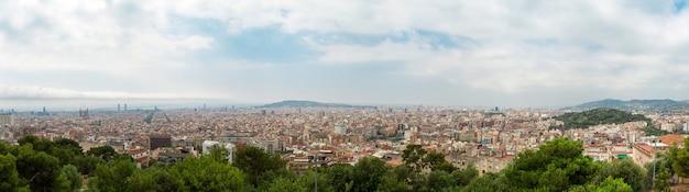 バルセロナ市のパノラマビュー