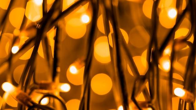Панорамный вид на праздник светящийся фон