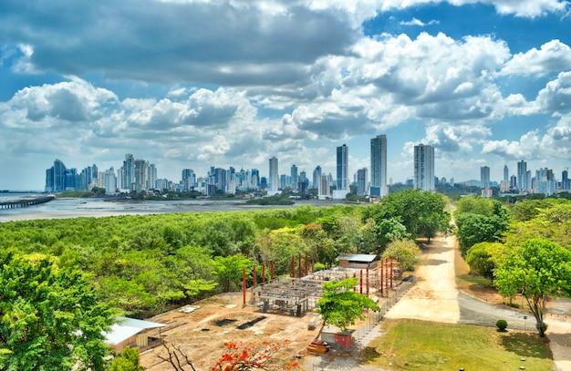 Панорамный вид на современные здания панама-сити
