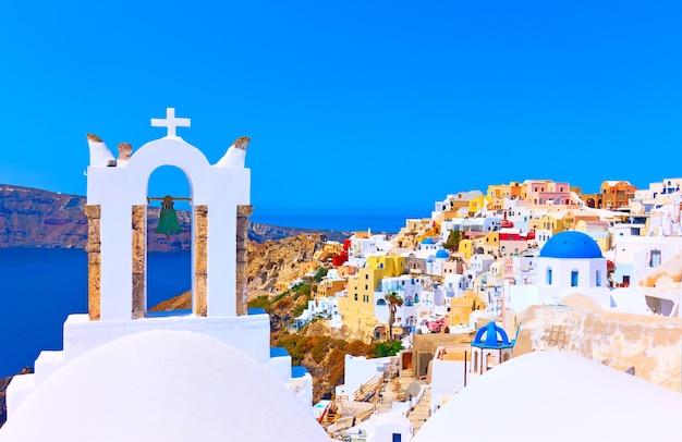 그리스 산토리니 이아 마을의 탁 트인 전망