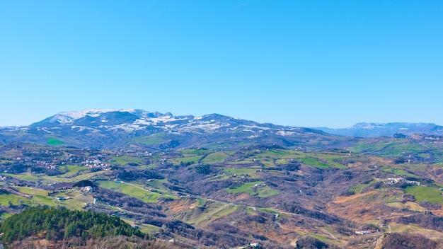 산마리노의 전경. 풍경