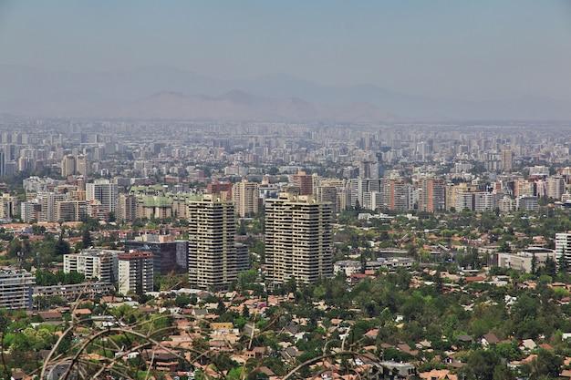 サンティアゴ、チリのパノラマビュー