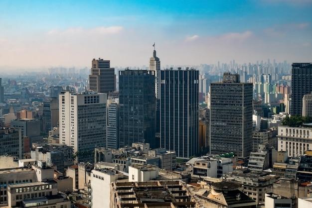 Панорамный вид на центр города сан-паулу.