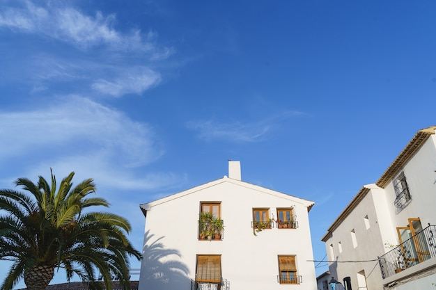 スペインの旅行先のパノラマビュー。夏と休日の背景。アウトドアコンセプト
