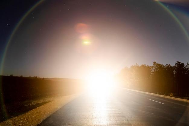 夕日のパノラマビュー