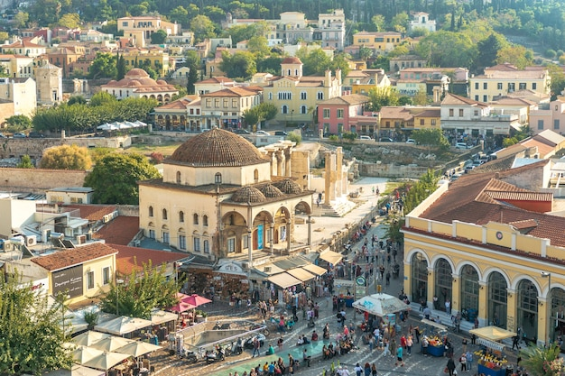 아테네 그리스의 아크로 폴리스의 전경.