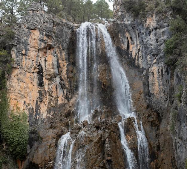 Панорамный вид на водопад