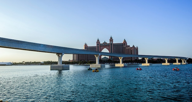 Panoramic view at the pointe waterfront dining and entertainment destination newly opened at the palm jumeirah in dubai