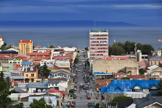 The panoramic view of punta arenas in patagonia, chile