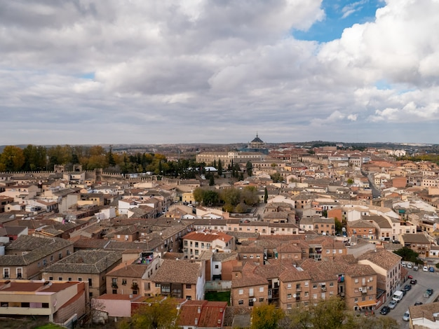 Panoramic view of toledo city in spain.