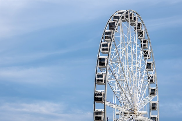 Panoramic wheel on a light blue sky