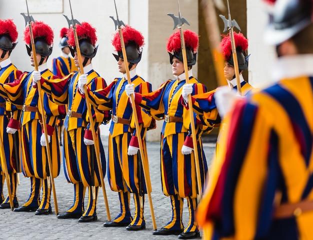 Papal swiss guard in uniform