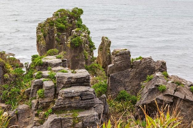 파파 로아 국립 공원 팬케이크 록스 남섬 뉴질랜드