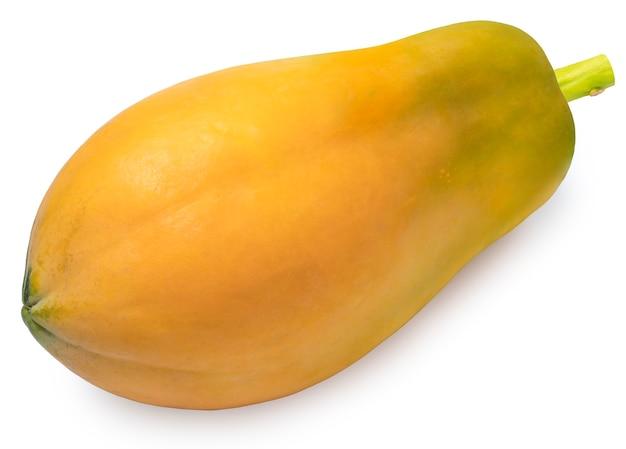 白い背景で隔離のパパイヤの果実
