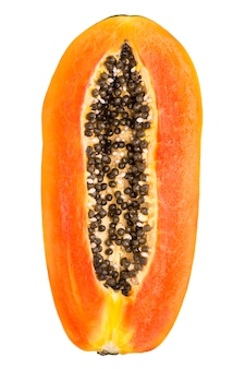 Papaya fruit slice