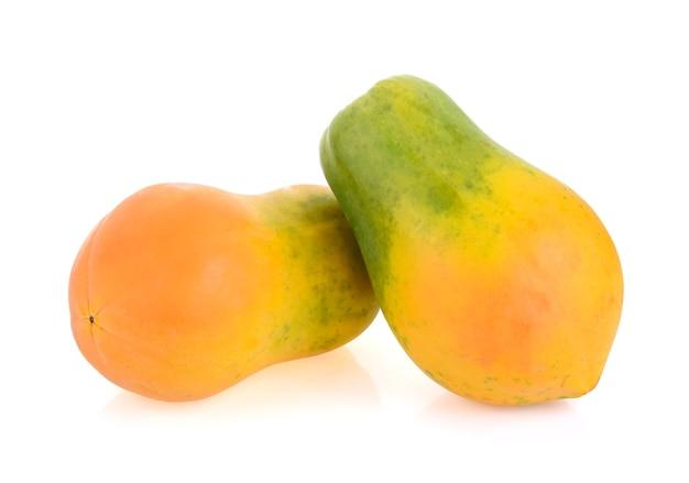 分離されたパパイヤの果実
