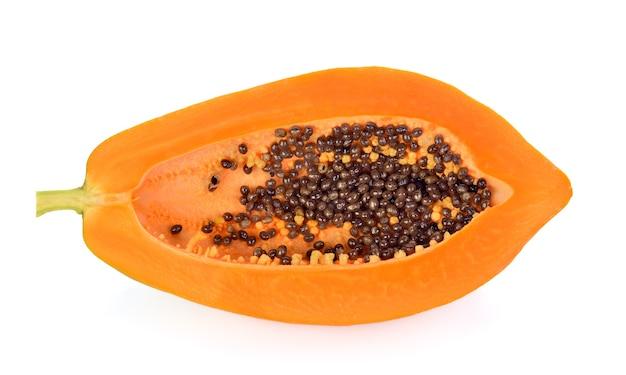 Papaya  isolated on white backgroound.