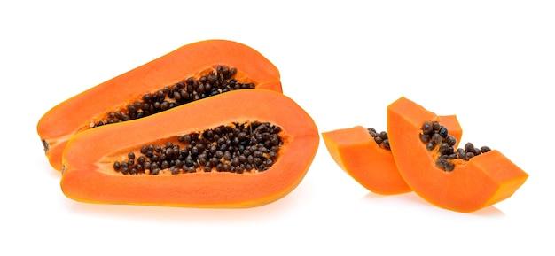 Papaya isolated on white background