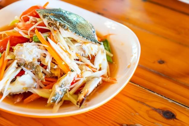 青蟹のパパイヤサラダ