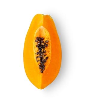 Ломтик папайи с семенами