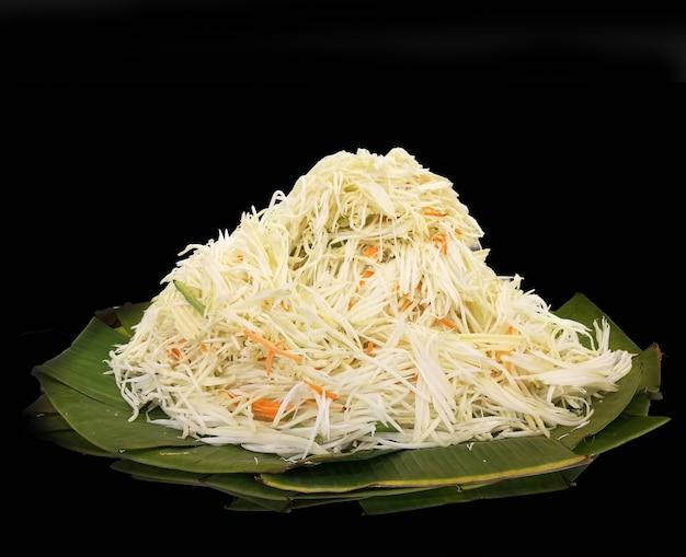 Papaya slide for som-tum menu