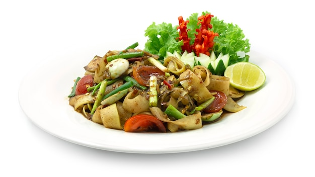 Papaya spicy salad luang prabang style appetizer or maincorse