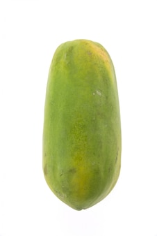 Papaya intera sezione bianco ripe
