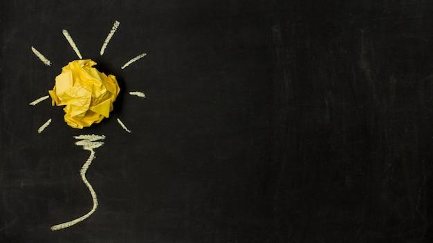 Концепция идеи papel шарики взгляд сверху