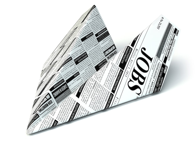 求人新聞の紙飛行機