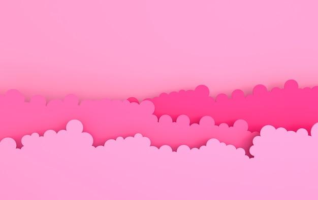 종이 예술 솜털 구름 현대 3d 종이 접기 종이 예술 스타일