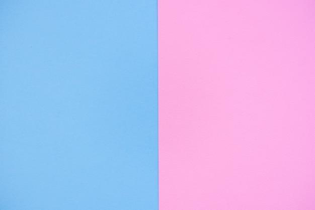 ピンクとブルーの2色の紙の背景。