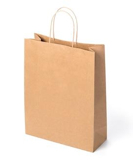 白で隔離される紙袋