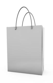 커피, 소금, 설탕, 후추, 향신료 또는 밀가루의 종이 가방 패키지, 채워진, 접힌, 닫기, 흰색. 당신의 디자인을 위한 준비. 3d 렌더링