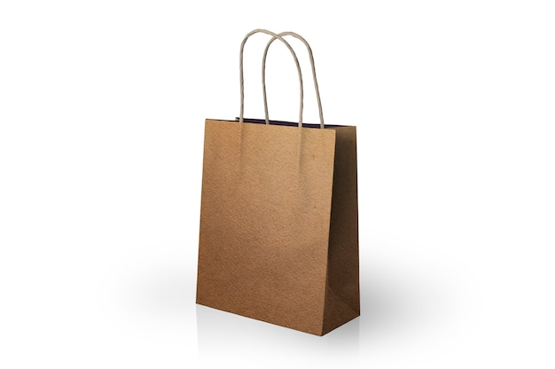 Paper bag with stripes