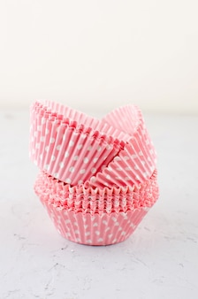 Paper baking cups for cupcakes and muffins