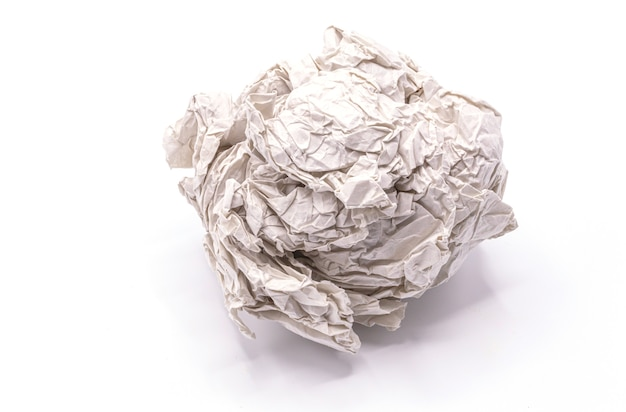 Paper ball isolate on white