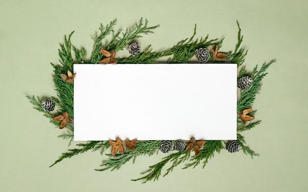 紙の空白のモックアップ、装飾